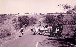 Foto: Silvana Nascimento - Romeiros de Mossâmedes a caminho do santuário de Trindade, 1997